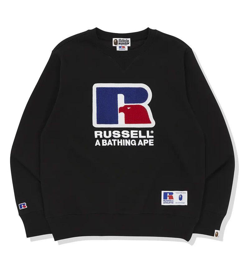 A BATHING APE × RUSSELL ATHLETIC BAPE x RUSSELL CREWNECK