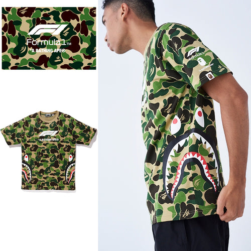 A BATHING APE × Formula 1 COLLECTION F1 BAPE SHARK TEE - happyjagabee store