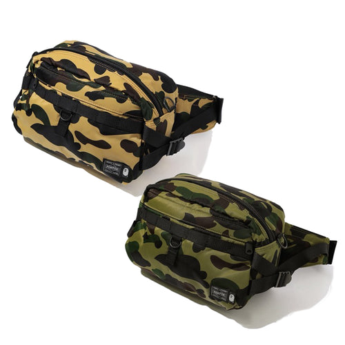 A BATHING APE PORTER 1ST CAMO WAIST BAG