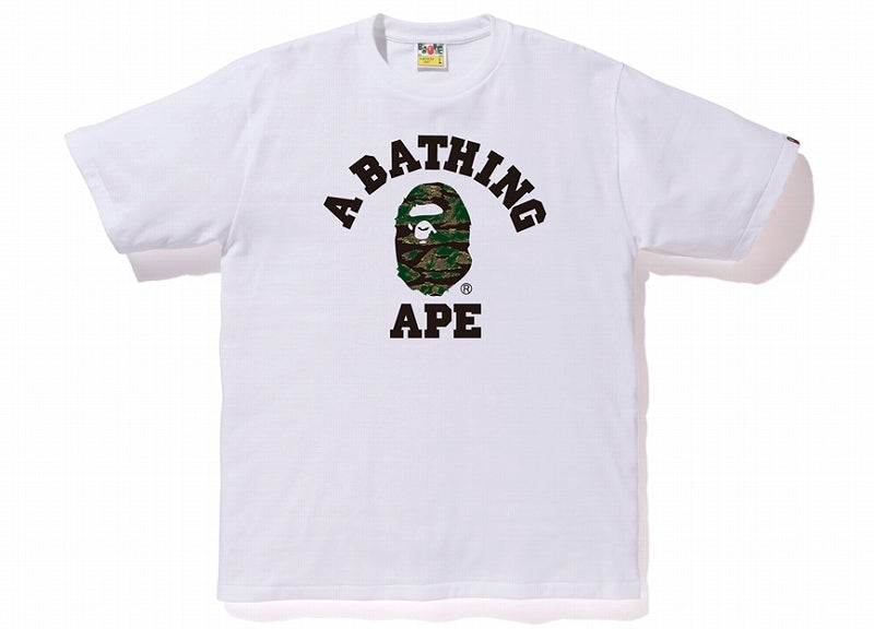 A BATHING APE TIGER CAMO COLLEGE TEE - happyjagabee store