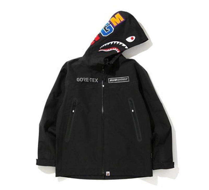 A BATHING APE GORE-TEX SHARK HOODIE JACKET - happyjagabee store