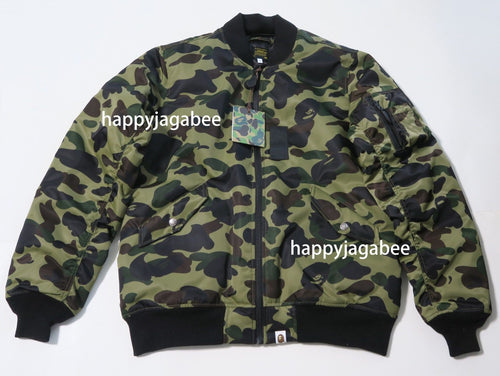 Sale! A BATHING APE 1ST CAMO MA-1 JACKET - happyjagabee store