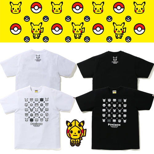 A BATHING APE Pokemon COLLECTION MONOTONE POKEMON TEE #4