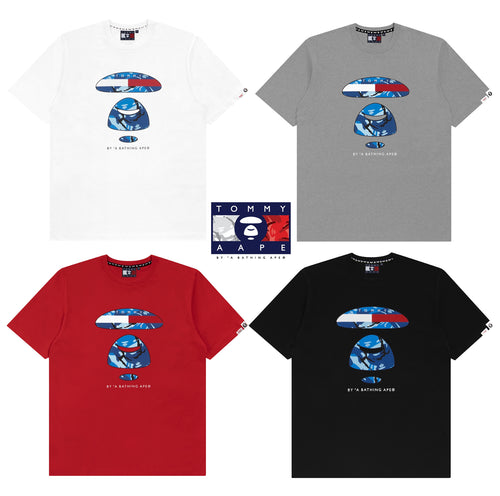 AAPE BY A BATHING APE x TOMMY JEANS TEE #2 ( run small )