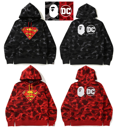A BATHING APE BAPE × DC SUPERMAN PULLOVER HOODIE