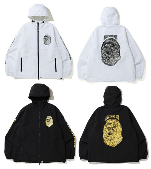 A BATHING APE JEWELRY MOTIF WIDE HOODIE JACKET - happyjagabee store