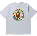 A BATHING APE MULTI CAMO BUSY WORKS RELAX TEE