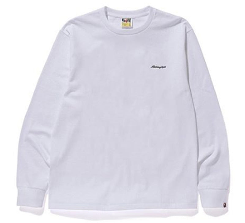 A BATHING APE PATCH L/S LONG SLEEVES TEE - happyjagabee store