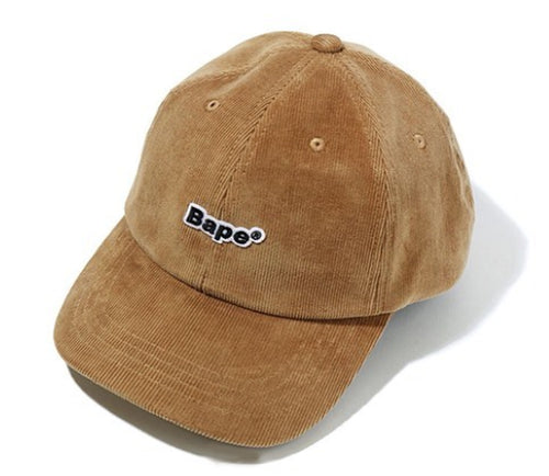 A BATHING APE BAPE CORDUROY PANEL CAP