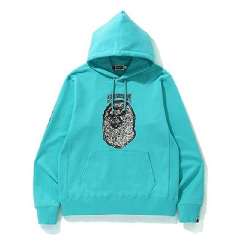 A BATHING APE JEWELRY MOTIF WIDE PULLOVER HOODIE - happyjagabee store