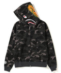 A BATHING APE LADIES' COLOR CAMO SHARK FULL ZIP HOODIE - happyjagabee store