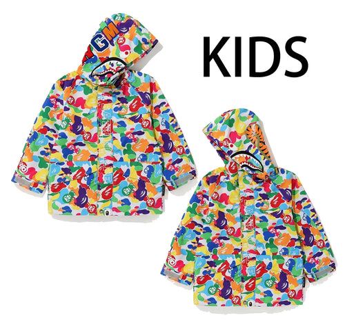 A BATHING APE KIDS MILO ABC MULTI SHARK SNOWBOARD JACKET