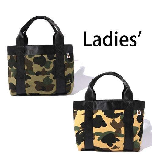 A BATHING APE LADIES' 1ST CAMO SWEAT TOTE BAG - happyjagabee store