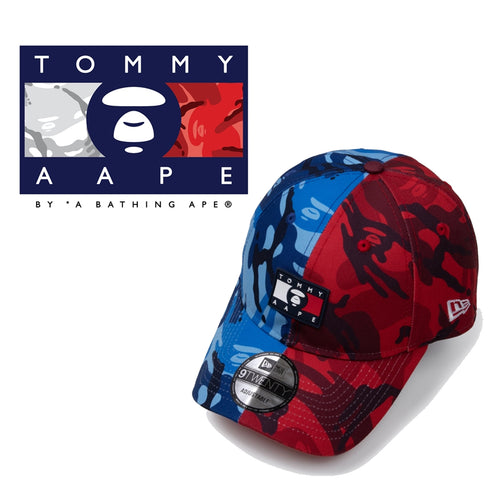 AAPE BY A BATHING APE x TOMMY JEANS NEW ERA 9TWENTY CAP HALF AND HALF CAMO