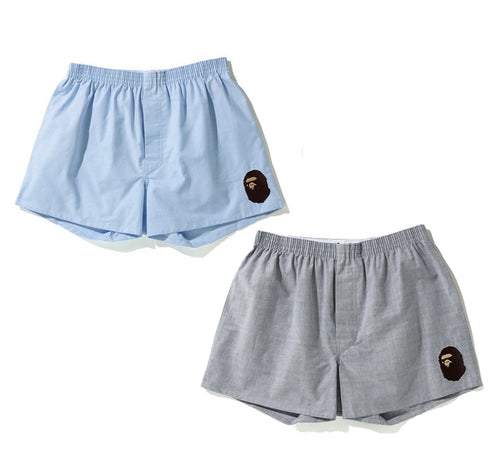 A BATHING APE OXFORD BOXERS PANTS
