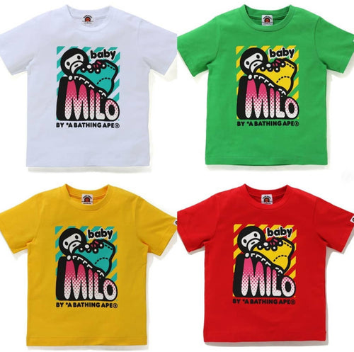 A BATHING APE BAPE KIDS BABY MILO OUTDOOR TEE