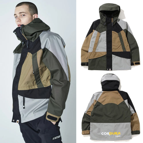 A BATHING APE COLOR BLOCK CORDURA SNOWBOARD JACKET