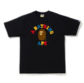 A BATHING APE COLORS COLLEGE TEE