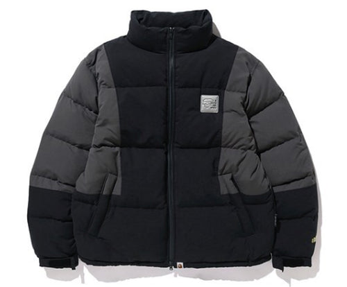 A BATHING APE COLOR BLOCK DOWN JACKET