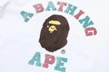A BATHING APE Ladies' GLITTER COLLEGE L/S TEE