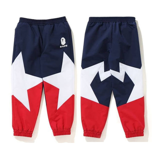 A BATHING APE BAPE KIDS STA COLOR BLOCK PANTS New