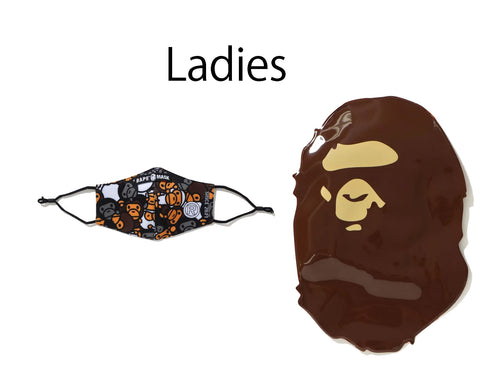 A BATHING APE Ladies' ALL BABY MILO MIX MASK