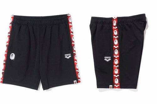 A BATHING APE ARENA × BAPE JERSEY SHORTS - happyjagabee store