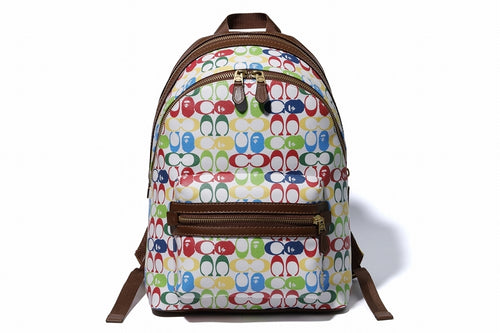 BAPE x COACH ACADEMY BACKPACK Multi - happyjagabee store