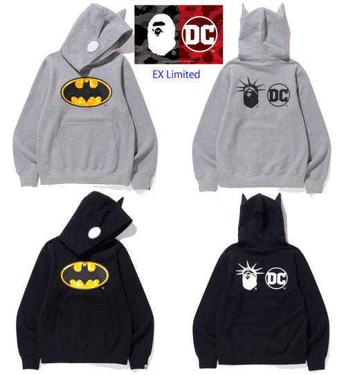 A BATHING APE BAPE × DC MADISON AVENUE BATMAN PULLOVER HOODIE