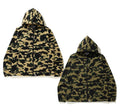 A BATHING APE 1ST CAMO STRETCH HOODIE JACKET