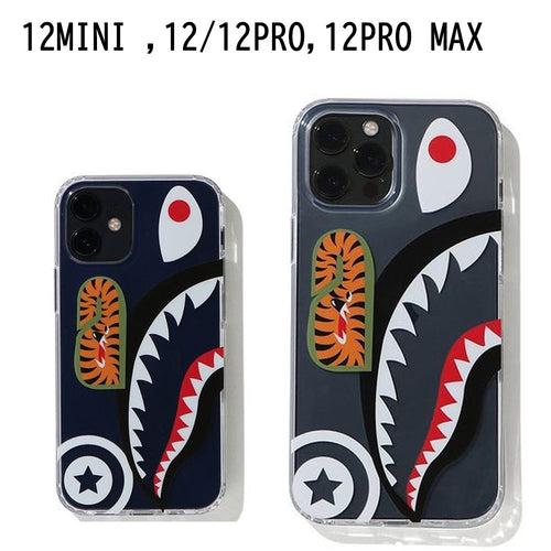 A BATHING APE SHARK IPHONE 12/12 Pro / 12 Pro Max / 12 Mini CLEAR CASE