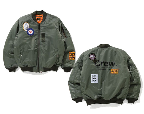 A BATHING APE BAPE ARCHIVE PATCH MA-1 JACKET