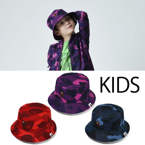 A BATHING APE BAPE KIDS COLOR CAMO BUCKET HAT