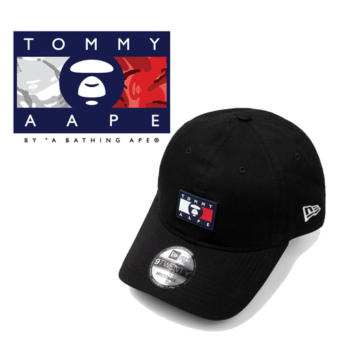 AAPE BY A BATHING APE x TOMMY JEANS NEW ERA 9TWENTY CAP Black