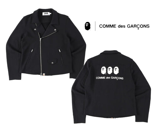 A BATHING APE × COMME des GARCONS CDG OSAKA BAPE SWEAT BIKER JACKET