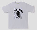 A BATHING APE ABC DOT REFLECTIVE ON COLLEGE TEE - happyjagabee store