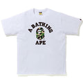 A BATHING APE ABC CAMO COLLEGE TEE - happyjagabee store