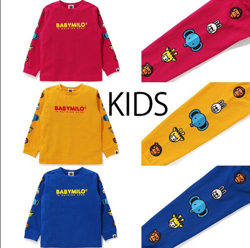 A BATHING APE BAPE KIDS MILO&FRIENDS L/S TEE