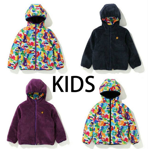 A BATHING APE KIDS MILO ABC MULTI REVERSIBLE JACKET - happyjagabee store