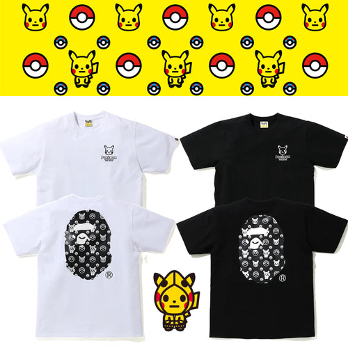 A BATHING APE Pokemon COLLECTION MONOTONE POKEMON TEE #1
