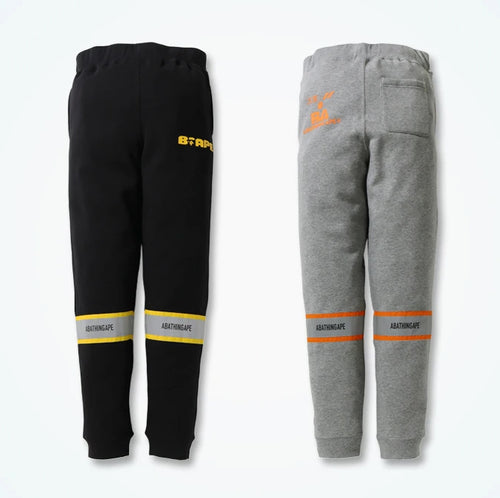 A BATHING APE REFLECTOR SLIM SWEAT PANTS