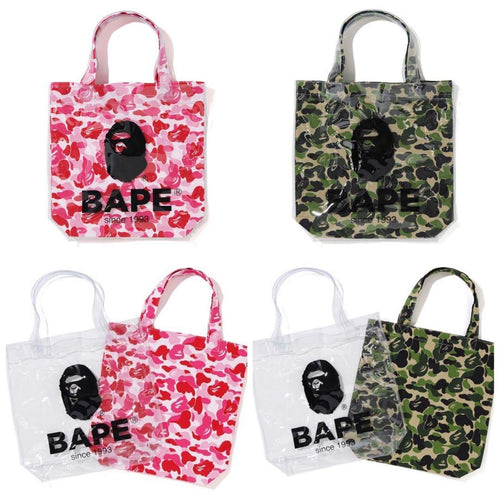 A BATHING APE ABC CLEAR TOTE BAG