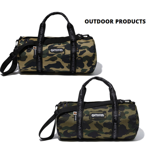 A BATHING APE BAPE x OUTDOOR PRODUCTS 1ST CAMO DUFFEL BAG