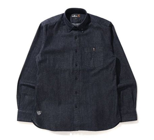 A BATHING APE Mr. BATHING APE DENIM BD SHIRT
