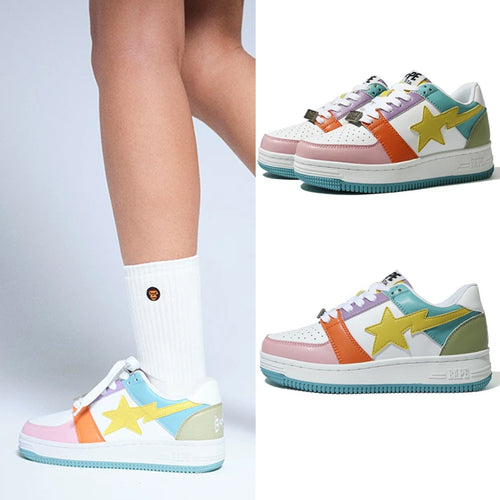 A BATHING APE Ladies' MULTI COLOR BAPE STA LOW