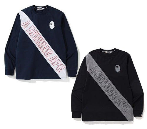 A BATHING APE MIX L/S TEE