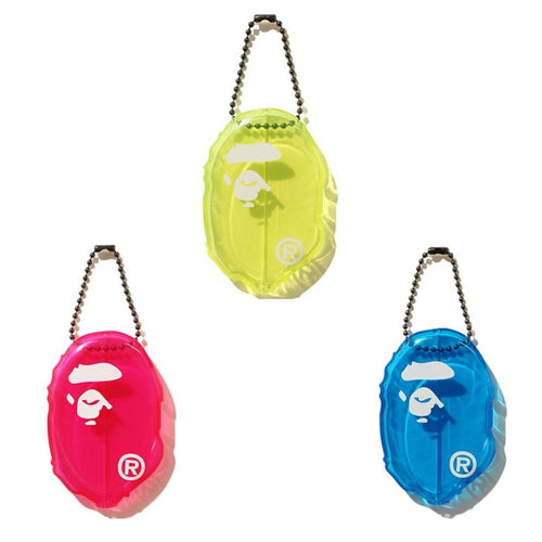 A BATHING APE APE HEAD CLEAR COIN CASE