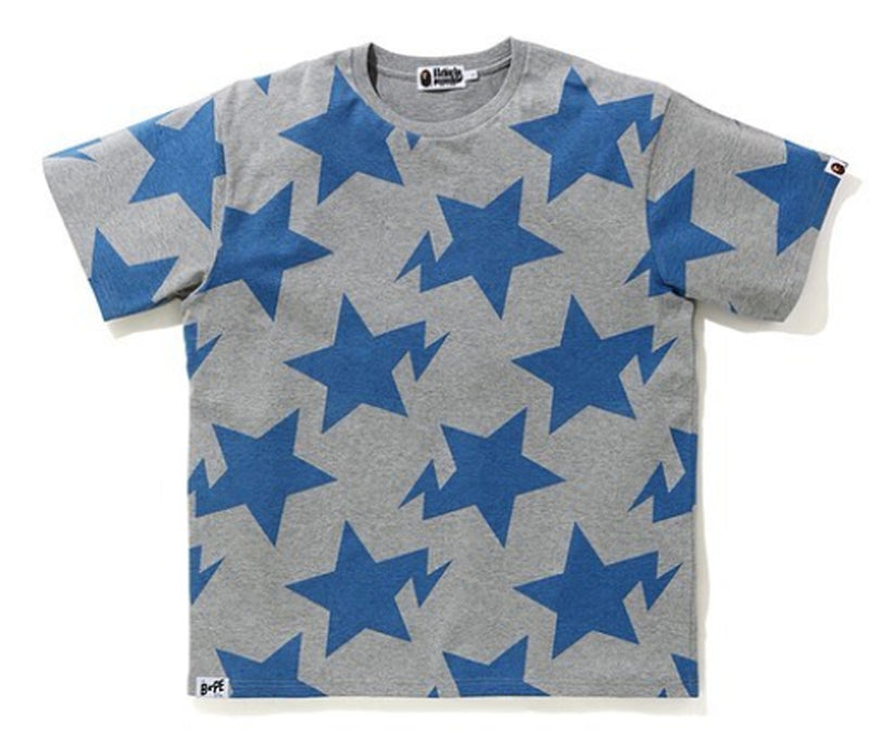 A BATHING APE RELAXED STA PATTERN TEE