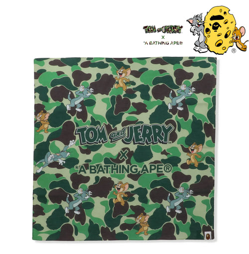 A BATHING APE BAPE X TOM AND JERRY CAMO BANDANA