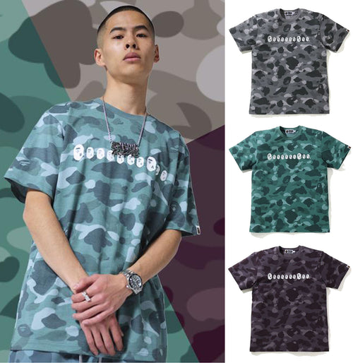 A BATHING APE COLOR CAMO APE HEAD TEE